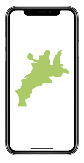 Map of the Cotswolds On An Iphone